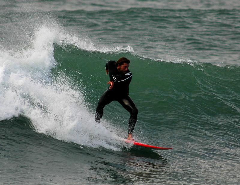 Surfer at Polzeath